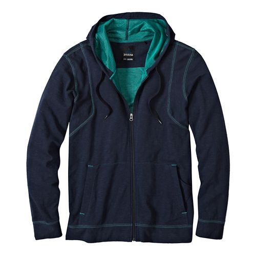 Mens Prana Barringer Warm Up Hooded Jackets - Nautical L