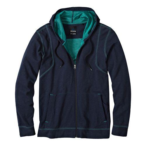 Mens Prana Barringer Warm Up Hooded Jackets - Nautical S