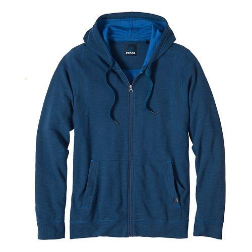 Mens prAna Barringer Half-Zips & Hoodies Non-Technical Tops - Blue Ridge M