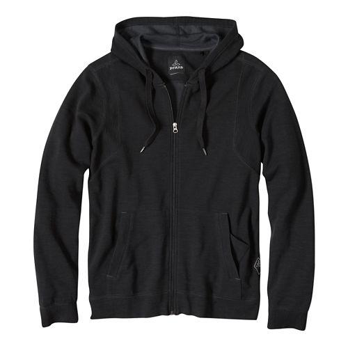 Mens Prana Barringer Warm Up Hooded Jackets - Earth Grey M