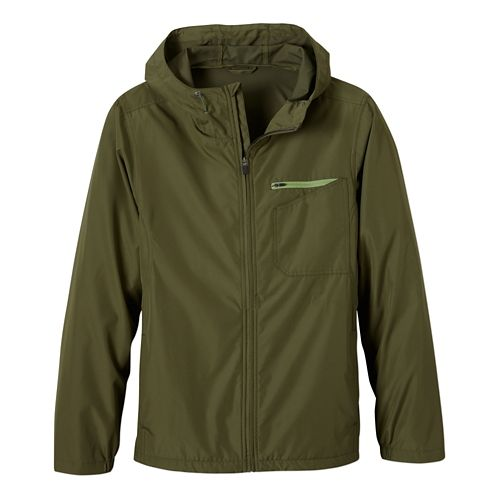 Mens Prana Winn Warm Up Hooded Jackets - Cargo Green M