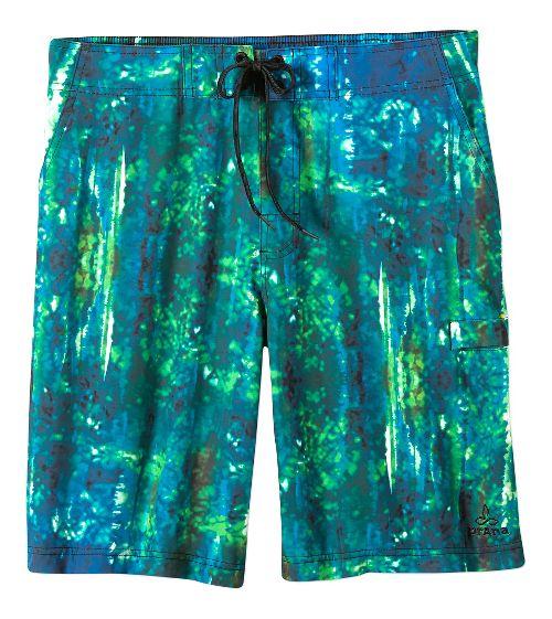 Mens prAna Basalt Studio Short  Swim - Typhoon Print 38