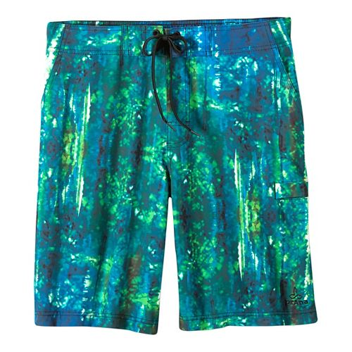 Mens prAna Basalt Studio Short  Swim - Typhoon Print 33