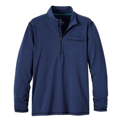 Mens Prana Guthrie 1/4 Zip Long Sleeve Half Zip Technical Tops - Blue Ridge XL ...