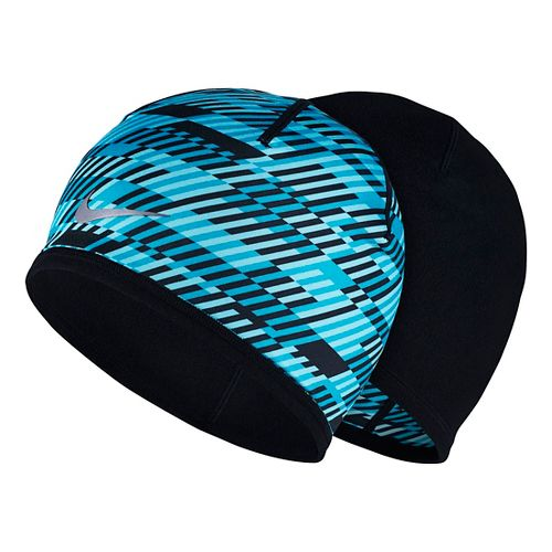 Mens Nike Run Hazard Beanie Headwear - Blue Lagoon