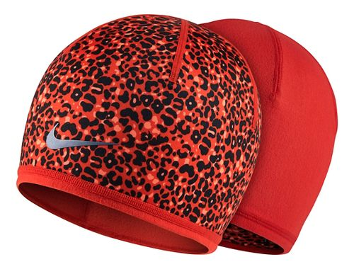 Womens Nike Run Lotus Beanie Headwear - Light Crimson