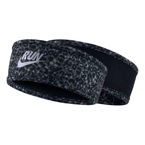 Womens Nike Run Lotus Headband Headwear - Black/Dark Grey