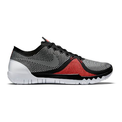 Mens Nike Free Trainer 3.0v4 Cross Training Shoe - Black/Bright Crimson 13