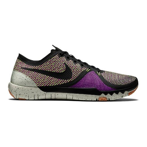 Mens Nike Free Trainer 3.0v4 Cross Training Shoe - Purple/Volt 8.5