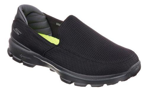 Mens Skechers GO Walk 3 Casual Shoe - Black/Black 9