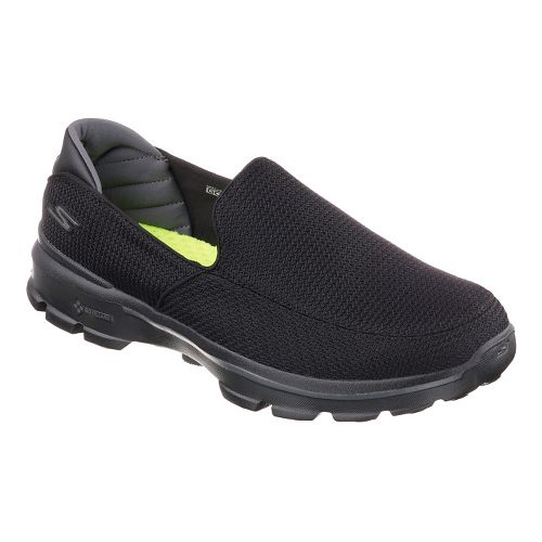 Mens Skechers GO Walk 3 Casual Shoe - Black/Black 10