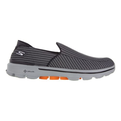 Mens Skechers GO Walk 3 Walking Shoe - Charcoal/Orange 13