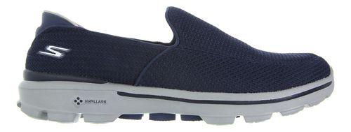 Mens Skechers GO Walk 3 Casual Shoe - Navy/Grey 10