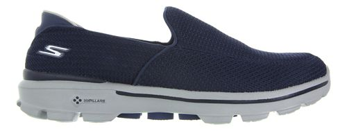 Mens Skechers GO Walk 3 Casual Shoe - Navy/Grey 11.5