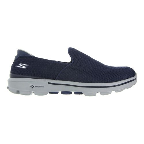 Mens Skechers GO Walk 3 Walking Shoe - Navy/Grey 10.5