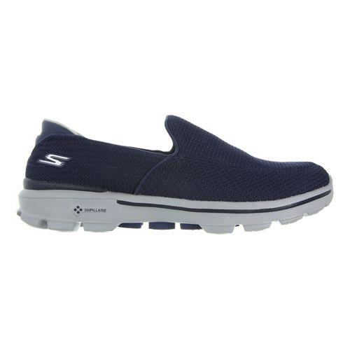 Mens Skechers GO Walk 3 Walking Shoe - Navy/Grey 8