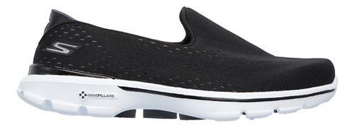 Womens Skechers GO Walk 3 Casual Shoe - Black 10