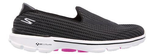 Womens Skechers GO Walk 3 Casual Shoe - Black/White 10