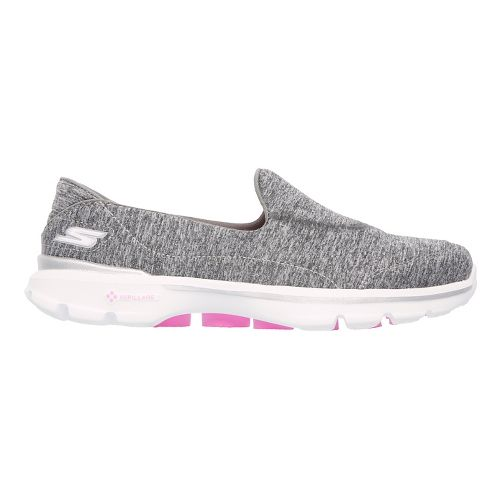 Womens Skechers GO Walk 3 Walking Shoe - Grey 10