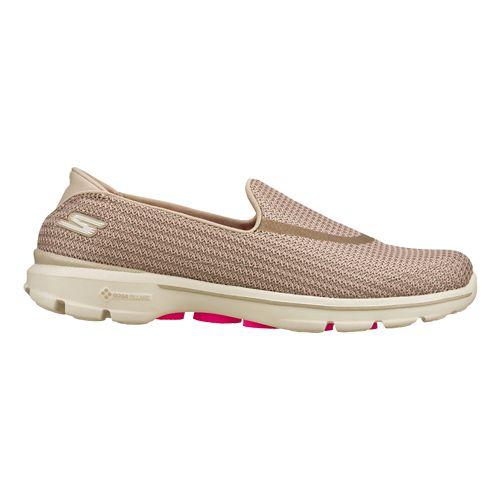 Womens Skechers GO Walk 3 Walking Shoe - Stone 10