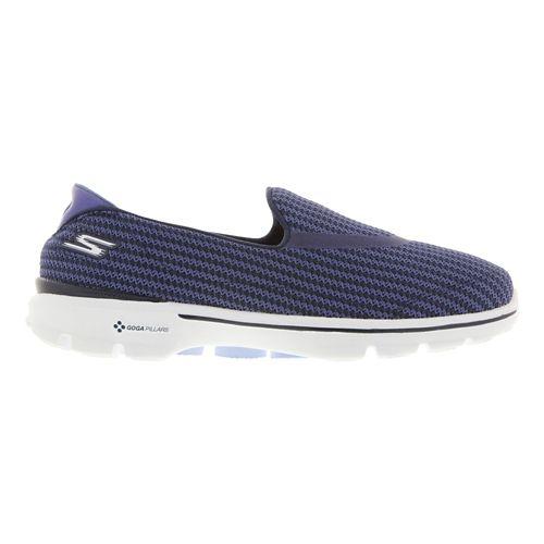 Womens Skechers GO Walk 3 Walking Shoe - Navy/Light Blue 10