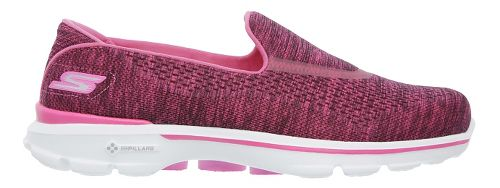 Womens Skechers GO Walk 3 Casual Shoe - Pink 8