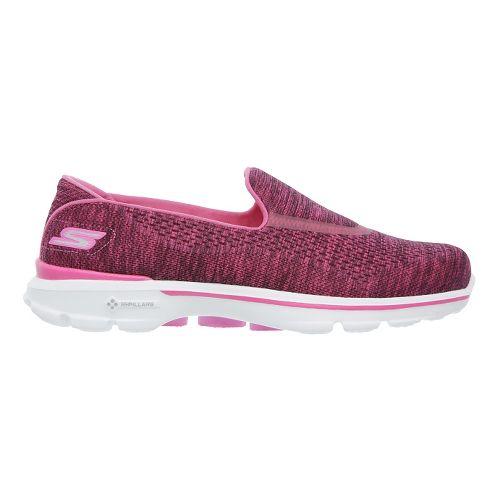 Womens Skechers GO Walk 3 Walking Shoe - Pink 6.5