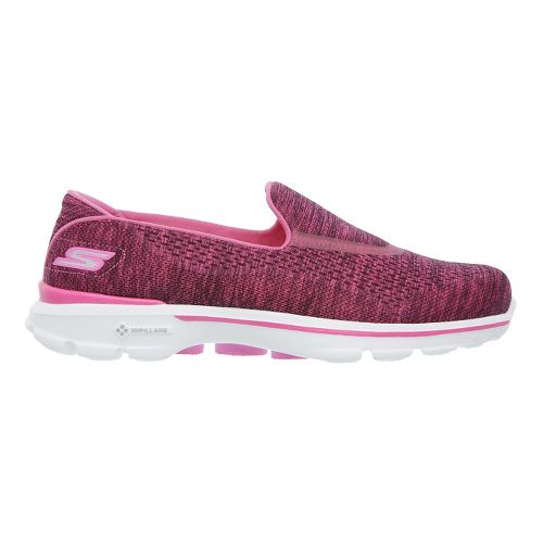 Womens Skechers GO Walk 3 Casual Shoe - Pink 9.5