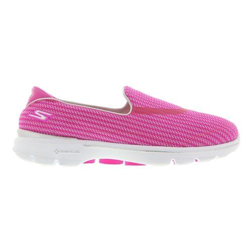 Womens Skechers GO Walk 3 Walking Shoe - Hot Pink 7.5