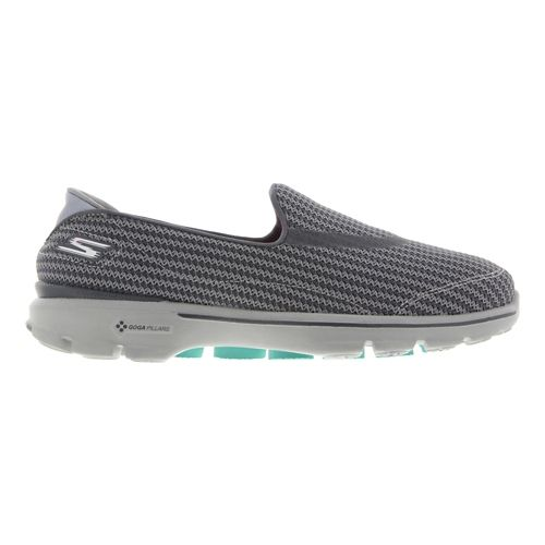 Womens Skechers GO Walk 3 Walking Shoe - Charcoal 9.5