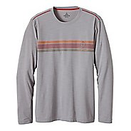 Mens Prana Calder Long Sleeve No Zip Technical Tops
