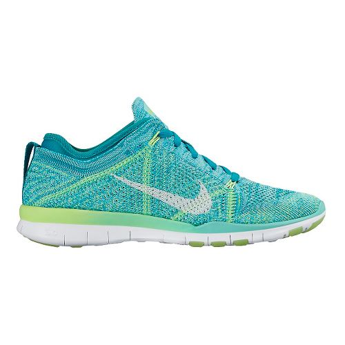 Womens Nike Free TR Flyknit Cross Training Shoe - Blue 6