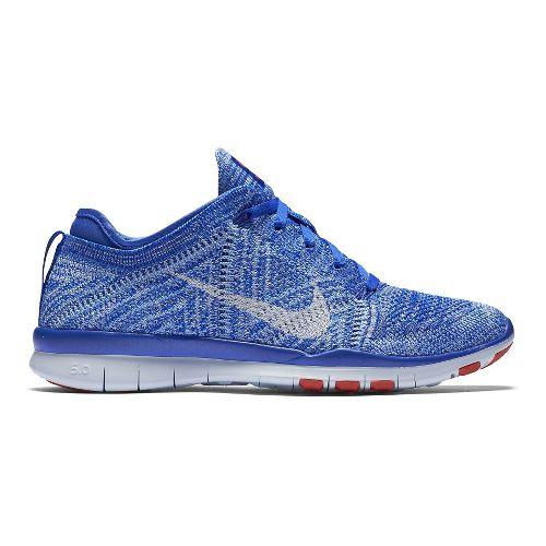 Womens Nike Free TR Flyknit Cross Training Shoe - Blue 7.5