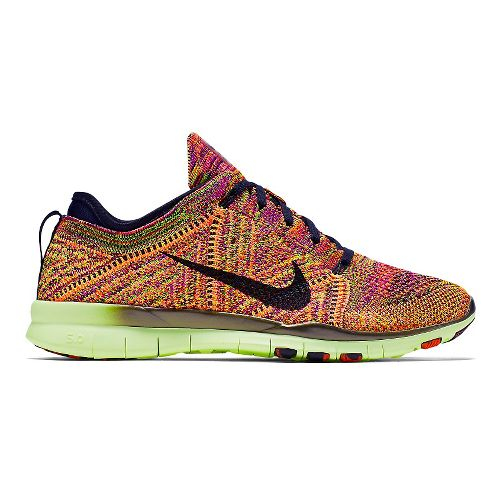 Womens Nike Free TR Flyknit Cross Training Shoe - Orange 6.5