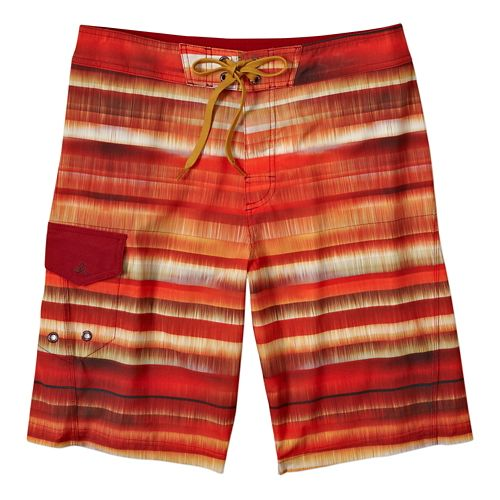 Mens Prana Seaton ShortSwim - Crimson 30