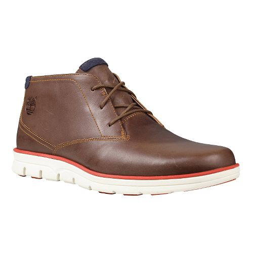 Mens Timberland EK Bradstreet Plain Toe Chukka Casual Shoe - Brown Full-Grain 8.5