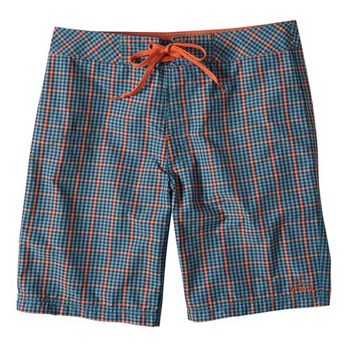 Mens prAna El Porto Short  Swim - Retro Teal 32
