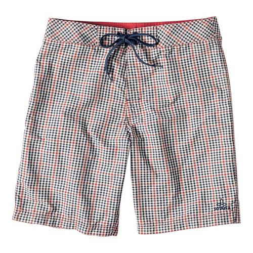 Mens prAna El Porto Short  Swim - Dark Blue 32