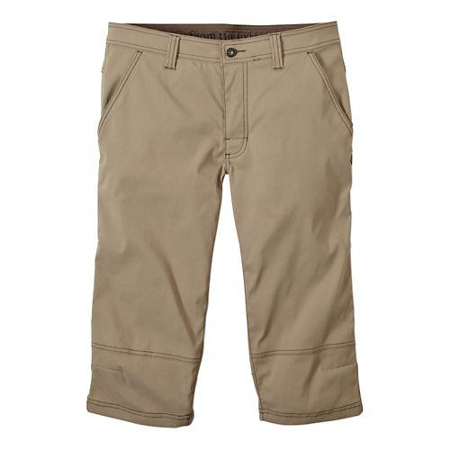 Mens prAna Menace Knicker Capris Pants - Dark Khaki 34