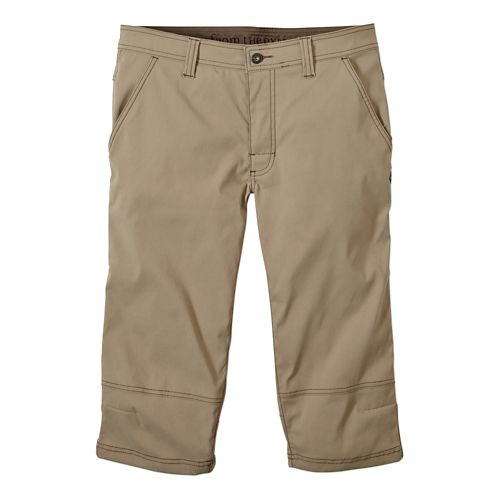 Mens prAna Menace Knicker Capris Pants - Dark Khaki 36