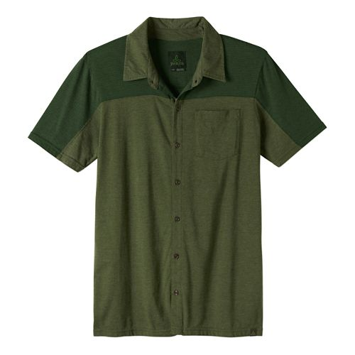 Mens Prana Knoven Short Sleeve Non-Technical Tops - Blue Ridge S