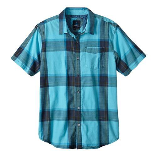 Mens Prana Ecto Short Sleeve Non-Technical Tops - Blue Ridge L