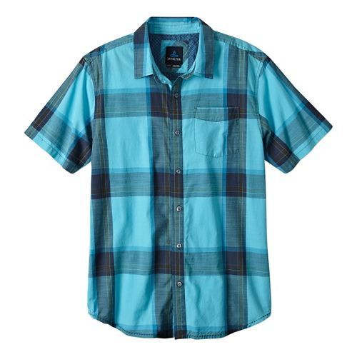 Mens Prana Ecto Short Sleeve Non-Technical Tops - Blue Ridge M