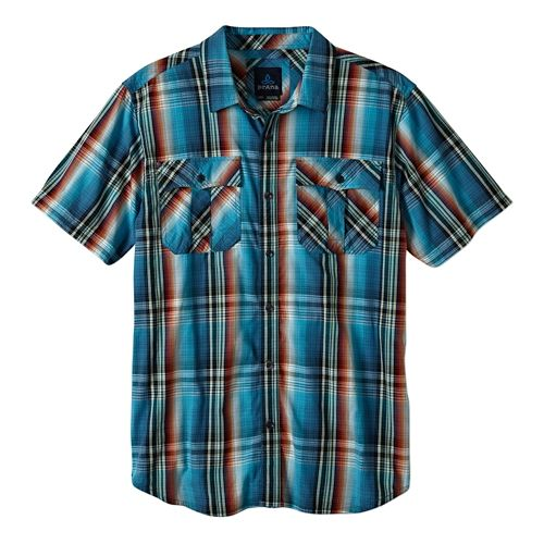 Mens Prana Ostend Short Sleeve Non-Technical Tops - Mosaic L