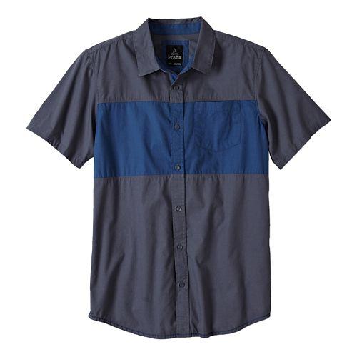 Mens Prana Tiereck Slim Short Sleeve Non-Technical Tops - Coal XL
