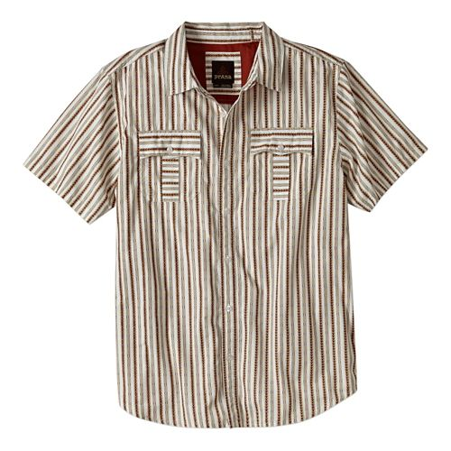 Mens Prana Torres Short Sleeve Non-Technical Tops - Winter M