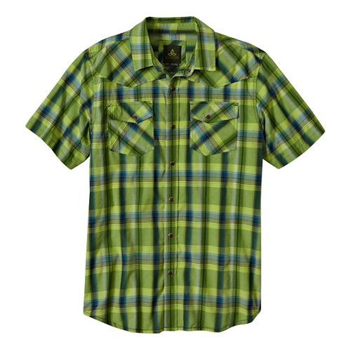 Mens Prana Holstad Short Sleeve Non-Technical Tops - Pomelo L