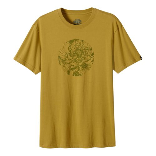Mens Prana Mindful Short Sleeve Non-Technical Tops - Safari M