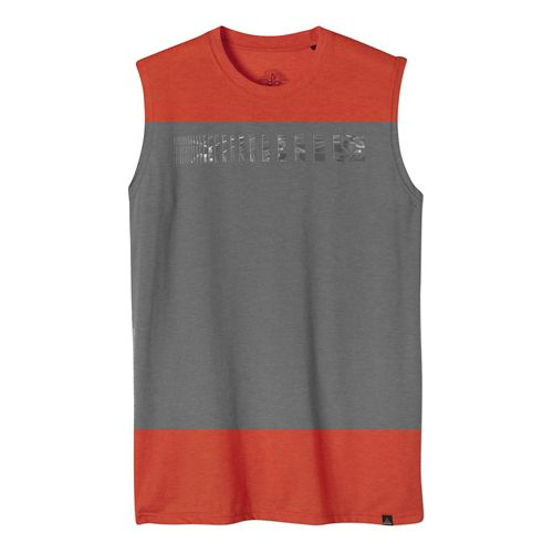 Mens Prana Aquarius Sleeveless Non-Technical Tops - Red Clay L