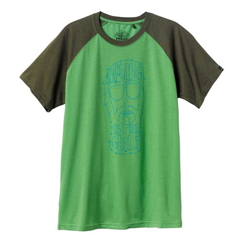 Mens Prana Beard Short Sleeve Non-Technical Tops - Seaweed L